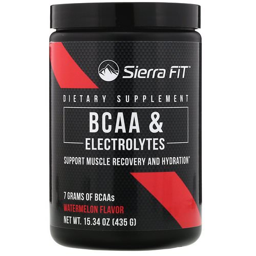 Sierra Fit, BCAA & Electrolytes, 7G BCAAs, Watermelon, 15.34 oz (435 g) Review