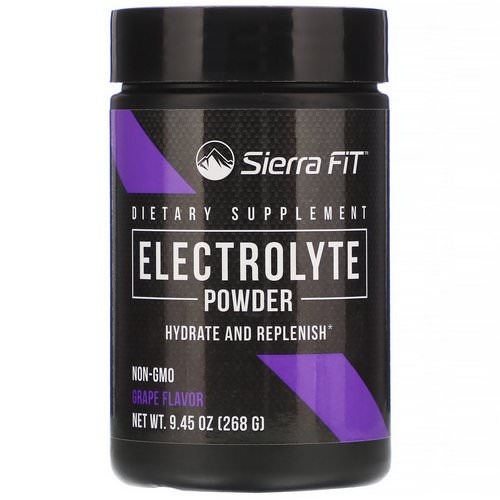 Sierra Fit, Electrolyte Powder, 0 Calories, Grape, 9.45 oz (268 g) Review