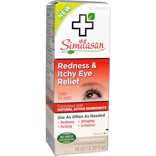 Similasan, Redness & Itchy Eye Relief, 0.33 fl oz (10 ml) Review