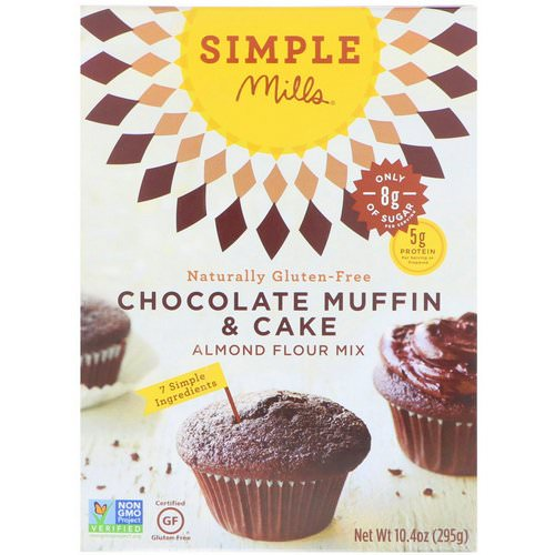 Simple Mills, Naturally Gluten-Free, Almond Flour Mix, Chocolate Muffin & Cake, 10.4 oz (295 g) Review