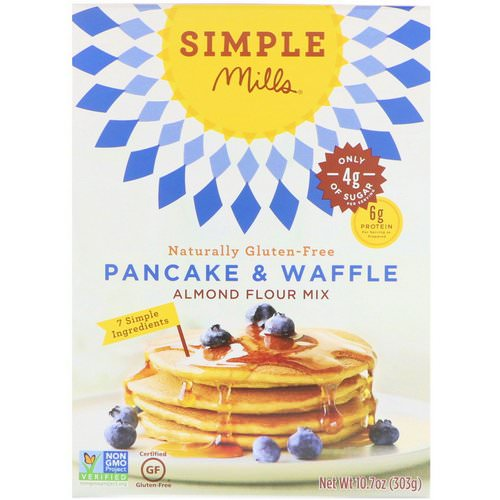 Simple Mills, Naturally Gluten-Free, Almond Flour Mix, Pancake & Waffle, 10.7 oz (303 g) Review