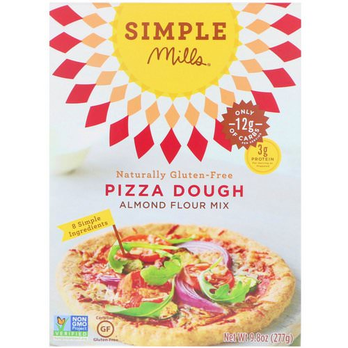 Simple Mills, Naturally Gluten-Free, Almond Flour Mix, Pizza Dough, 9.8 oz (277 g) Review