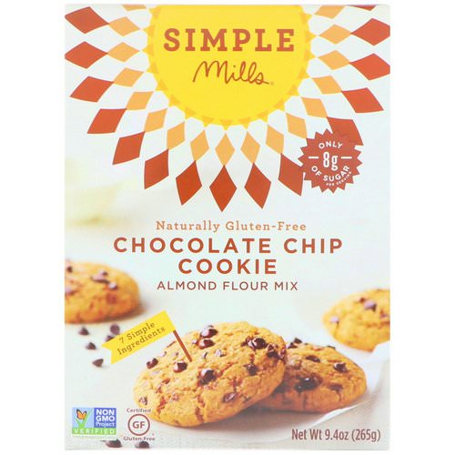 Simple Mills, Naturally Gluten-Free, Chocolate Chip Cookie Almond Flour Mix, 9.4 oz (265 g) Review