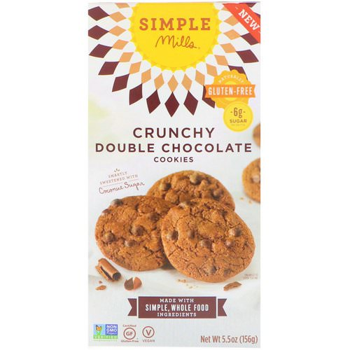 Simple Mills, Naturally Gluten-Free, Crunchy Cookies, Double Chocolate, 5.5 oz (156 g) Review