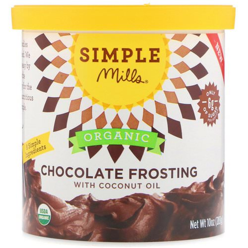 Simple Mills, Organic, Chocolate Frosting with Coconut Oil, 10 oz (283 g) Review