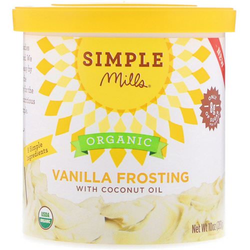 Simple Mills, Organic, Vanilla Frosting with Coconut Oil, 10 oz (283 g) Review