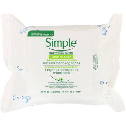 Simple Skincare, Micellar Cleansing Wipes, 25 Wipes Review