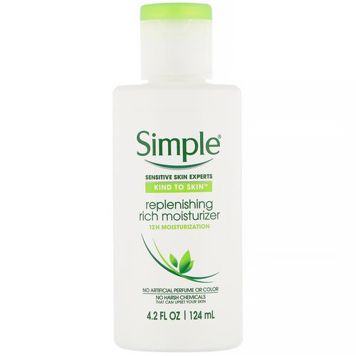 Simple Skincare, Replenishing Rich Moisturizer, 4.2 fl oz (124 ml) Review