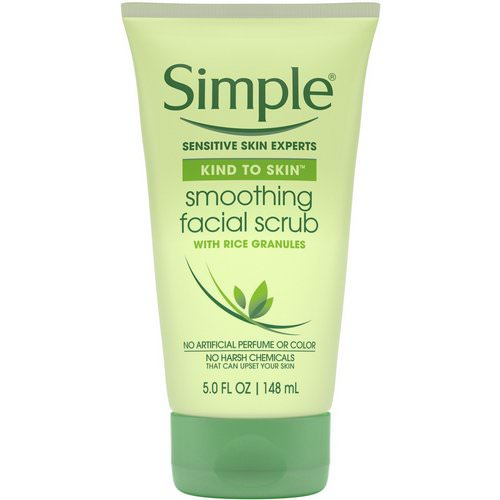 Simple Skincare, Smoothing Facial Scrub, 5 fl oz (148 ml) Review