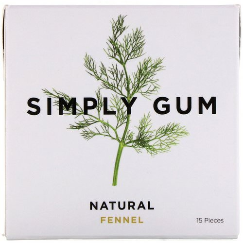Simply Gum, Gum, Natural Fennel, 15 Pieces Review