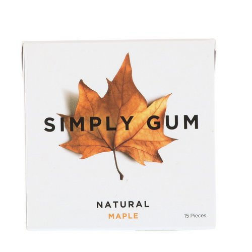 Simply Gum, Gum, Natural Maple, 15 Pieces Review