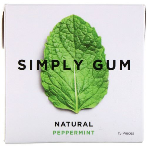 Simply Gum, Gum, Natural Peppermint, 15 Pieces Review