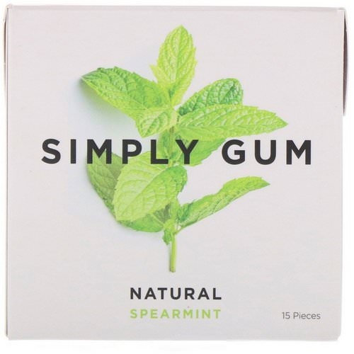 Simply Gum, Spearmint Natural Gum, 15 Pieces Review