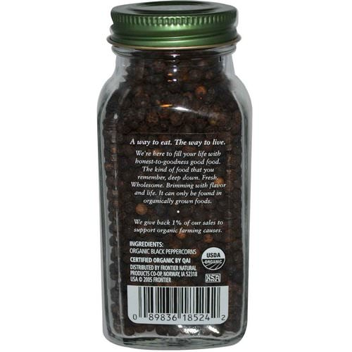 Simply Organic, Black Peppercorns, 2.65 oz (75 g) Review