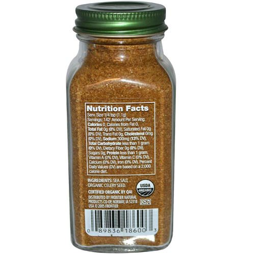 Simply Organic, Celery Salt, 5.54 oz (157 g) Review