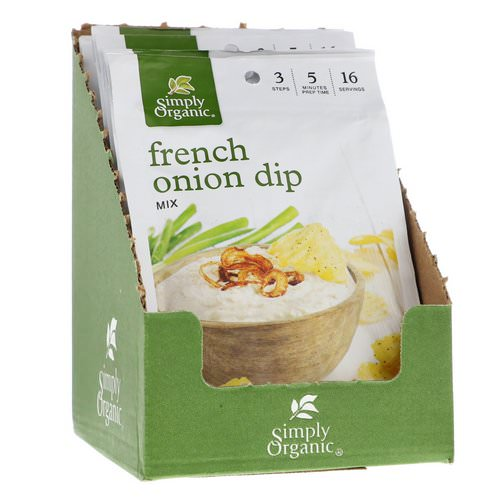 Simply Organic, French Onion Dip Mix, 12 Packets, 1.10 oz (31 g) Each Review