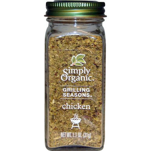 Simply Organic, Grilling Seasons, Chicken, Organic, 1.1 oz (31 g) Review