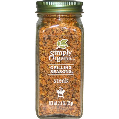 Simply Organic, Grilling Seasons, Steak, Organic, 2.3 oz (65 g) Review