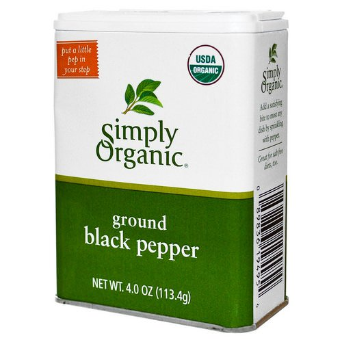 Simply Organic, Ground Black Pepper, 4 oz (113.4 g) Review