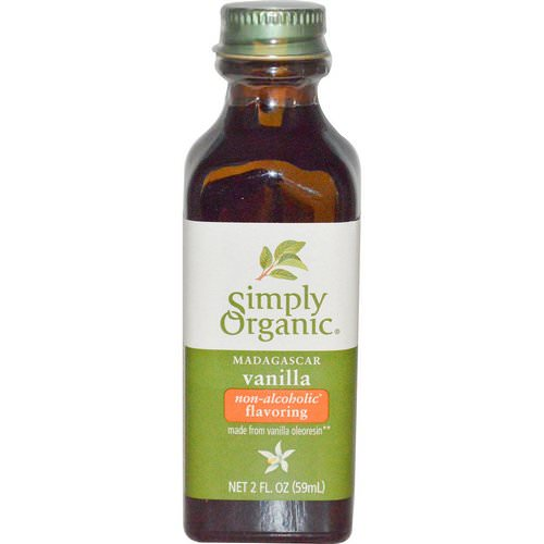 Simply Organic, Madagascar Vanilla, Non-Alcoholic Flavoring, Farm Grown, 2 fl oz (59 ml) Review