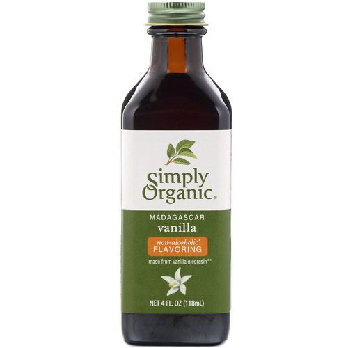 Simply Organic, Madagascar Vanilla, Non-Alcoholic Flavoring, Farm Grown, 4 fl oz (118 ml) Review