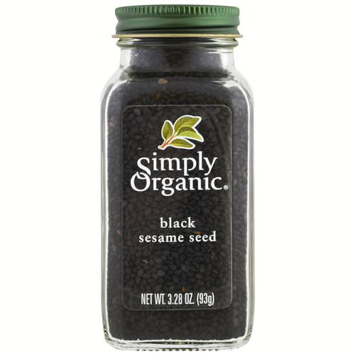 Simply Organic, Organic, Black Sesame Seed, 3.28 oz (93 g) Review