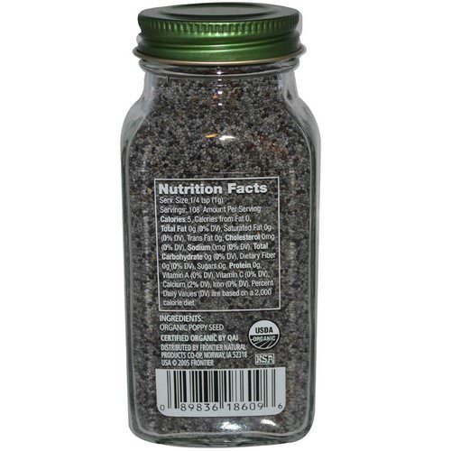 Simply Organic, Poppy Seed, 3.81 oz (108 g) Review