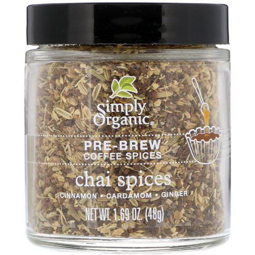 Simply Organic, Pre-Brew Coffee Spices, Chai Spices, 1.69 oz (48 g) Review
