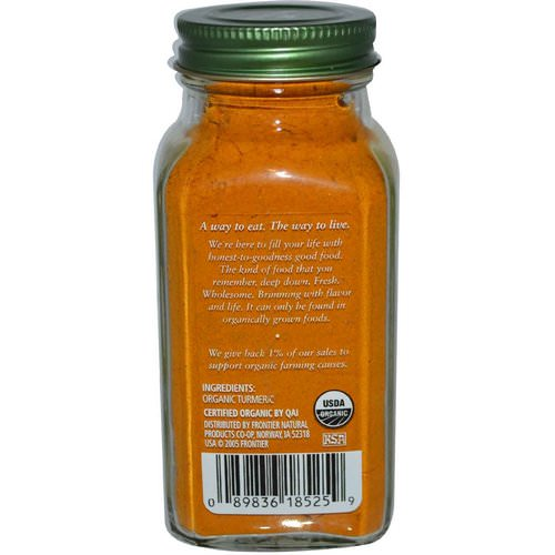 Simply Organic, Turmeric, 2.38 oz (67 g) Review