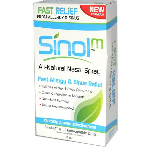 Sinol, All Natural Nasal Spray, Fast Allergy & Sinus Relief, 15 ml Review