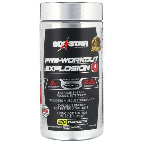 Six Star, Pre-Workout Explosion, 120 Caplets Review