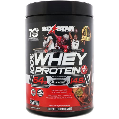 Six Star, Six Star Pro Nutrition, 100% Whey Protein Plus, Elite Series, Triple Chocolate, 2 lbs (907 g) Review