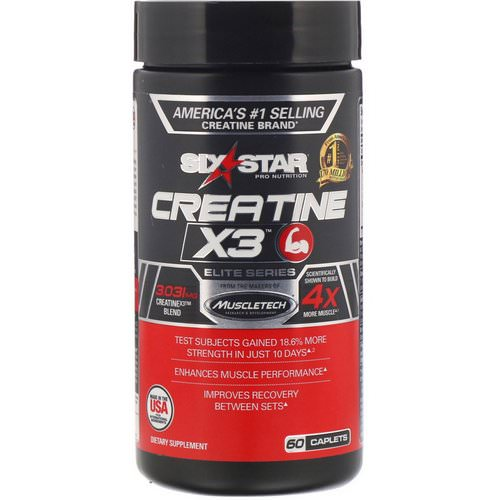 Six Star, Elite Series, Creatine X3, 60 Caplets Review