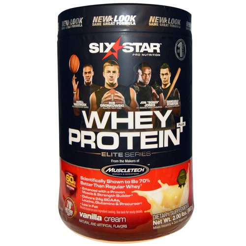 Six Star, Six Star Pro Nutrition, Whey Protein +, Elite Series, Vanilla Cream, 2.00 lbs (907 g) Review