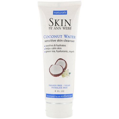 Skin By Ann Webb, Sensitive Skin Cleanser, Coconut Water, 4 fl oz Review