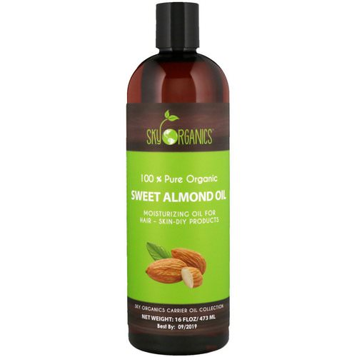 Sky Organics, 100% Pure Organic, Sweet Almond Oil, 16 fl oz (473 ml) Review