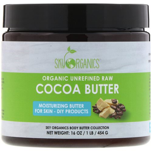 Sky Organics, Organic Unrefined Raw Cocoa Butter, 16 oz (454 g) Review