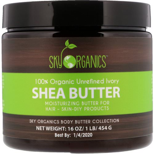Sky Organics, Shea Butter, 100% Organic Unrefined Ivory, 16 fl oz (454 g) Review