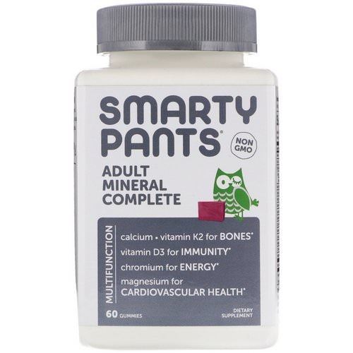 SmartyPants, Adult Mineral Complete, 60 Chews Review