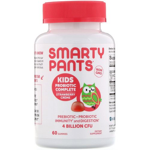 SmartyPants, Kids Probiotic Complete, Strawberry Creme, 60 Gummies Review