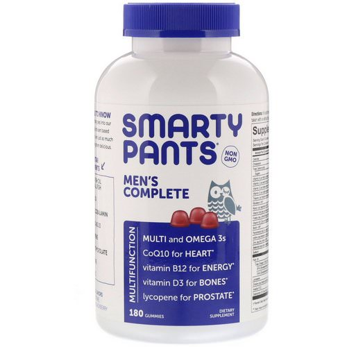 SmartyPants, Men's Complete, 180 Gummies Review