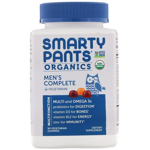 SmartyPants, Organic, Men's Complete, 90 Vegetarian Gummies Review
