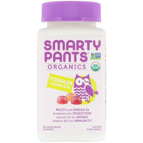 SmartyPants, Organics, Toddler Complete, 60 Vegetarian Gummies Review