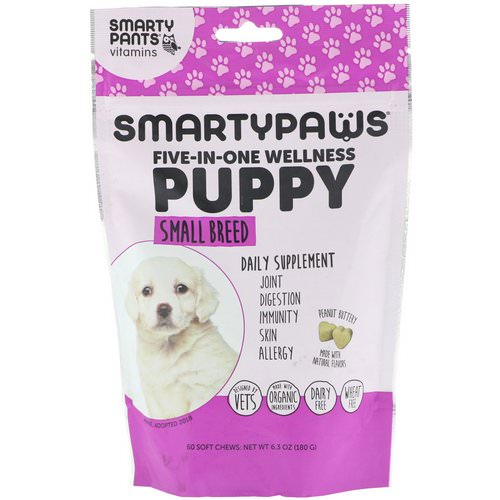 SmartyPants, SmartyPaws, Five-In-One Wellness, Puppy, Small Breed, 60 Soft Chews Review