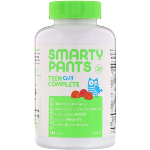 SmartyPants, Teen Guy Complete Multivitamin, Lemon Lime, Cherry, and Sour Apple, 120 Gummies Review
