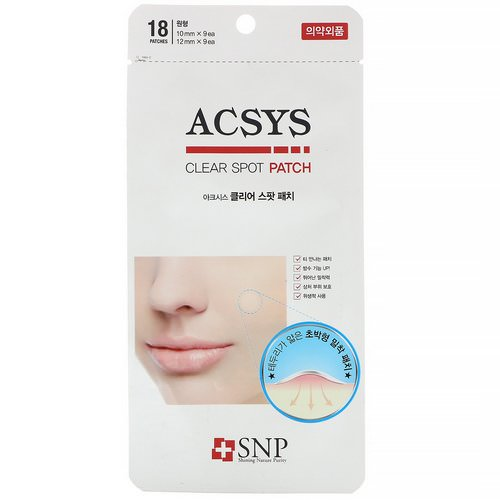 SNP, ACSYS, Clear Spot Patch, 18 Patches Review