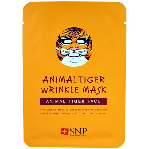 SNP, Animal Tiger Wrinkle Mask, 10 Masks x (25 ml) Each Review