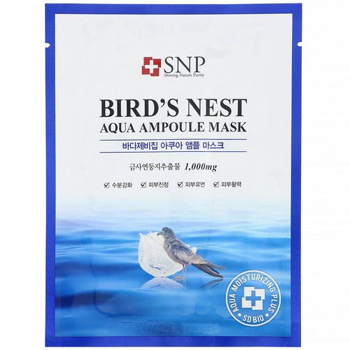 SNP, Bird's Nest Aqua Ampoule Mask, 10 Sheets, 0.84 fl oz (25 ml) Each Review