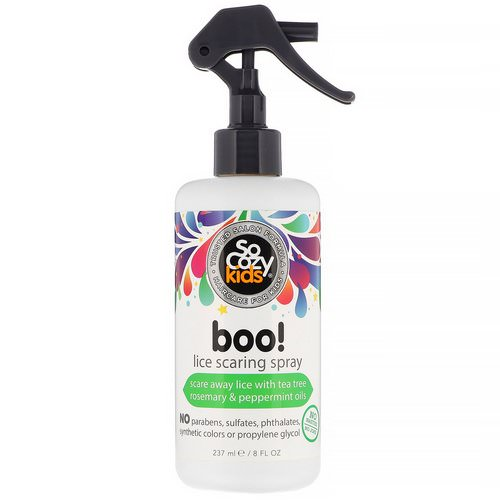 SoCozy, Kids, Boo! Lice Scaring Spray, 8 fl oz (237 ml) Review
