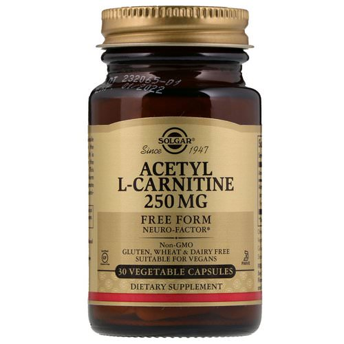 Solgar, Acetyl-L-Carnitine, 250 mg, 30 Vegetable Capsules Review